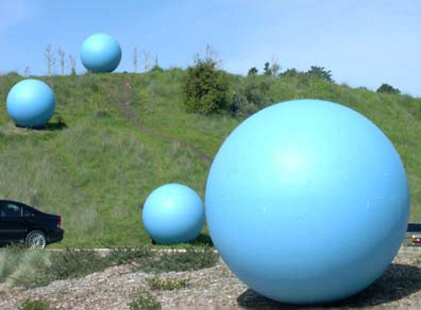 """""""Skyballs,"""" by Steve Gillman and Katherine Keefer, 2001."""