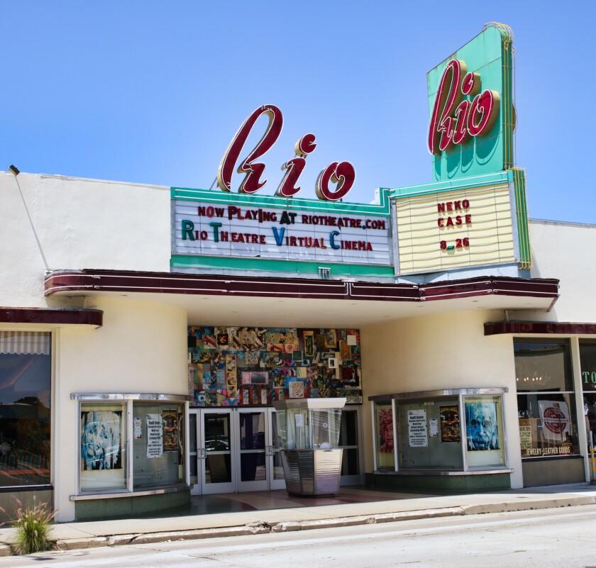 The Rio Theatre in Santa Cruz