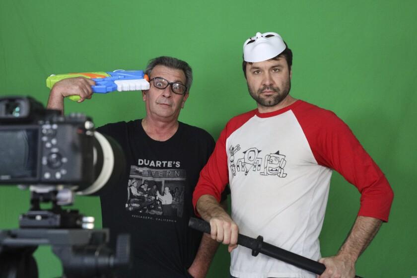 Erik Gandolfi (left) and Drew Crocker