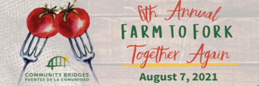 A flyer for Community Bridges' Farm to Fork event