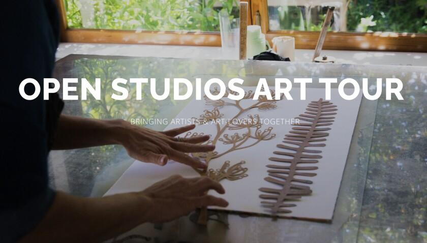 A flyer for Open Studios art tour 2021