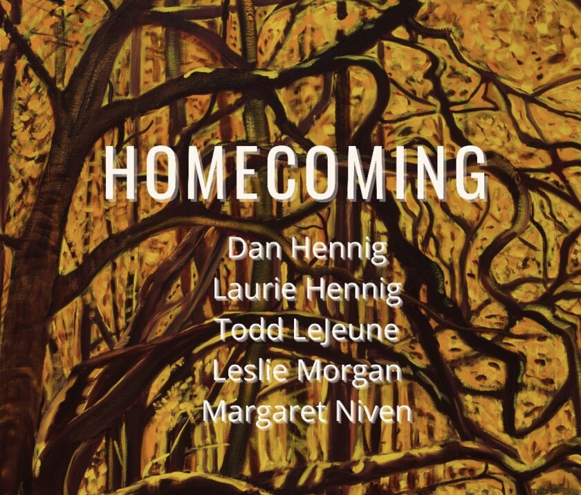 """A promotional flyer for the """"Homecoming"""" exhibition at Radius Gallery"""