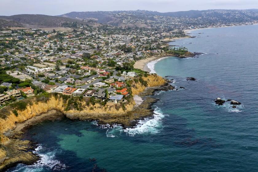 Aerial view of Laguna Beach
