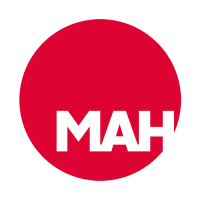 A red dot logo with the letter MAH