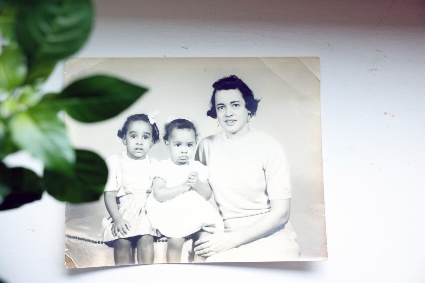 Sandy Banks, left, her sister Anita and their mother