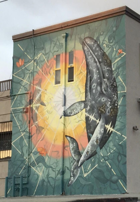 A Sea Walls mural in Encinitas.