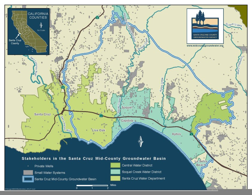 Map of the groundwater basin.