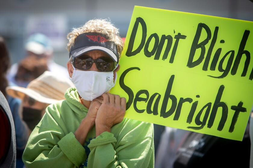 The Seabright community came out passionately Sunday.