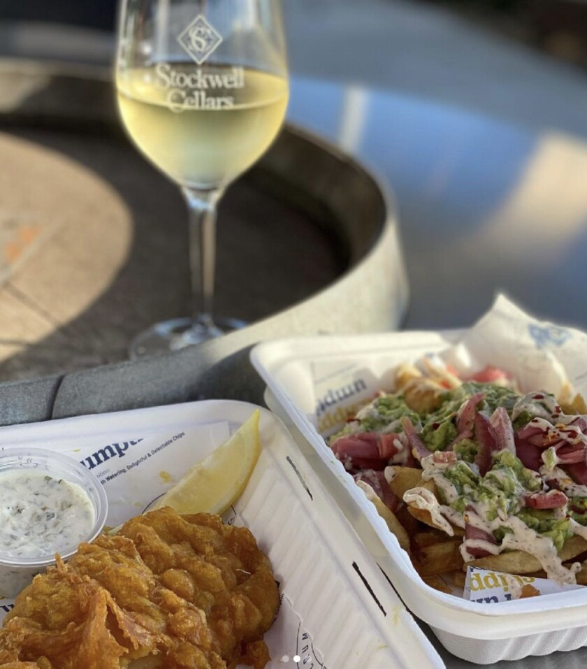 Food and wine at Stockwell Cellars