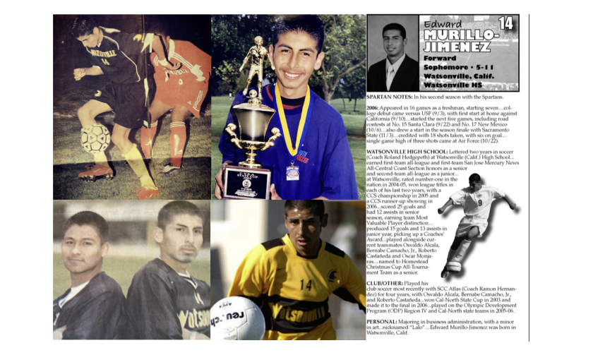 Edward 'Lalo' Murillo-Jimenez had a storied soccer career that took from the junior ranks to San Jose State.