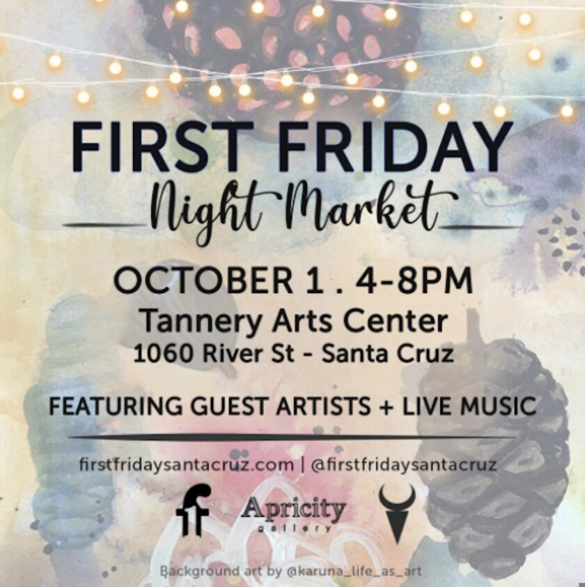 A flyer for the October 2021 First Friday Art Market