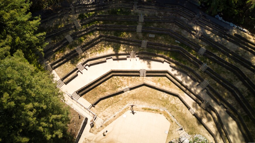 The view from above the Quarry shows its magical potential.