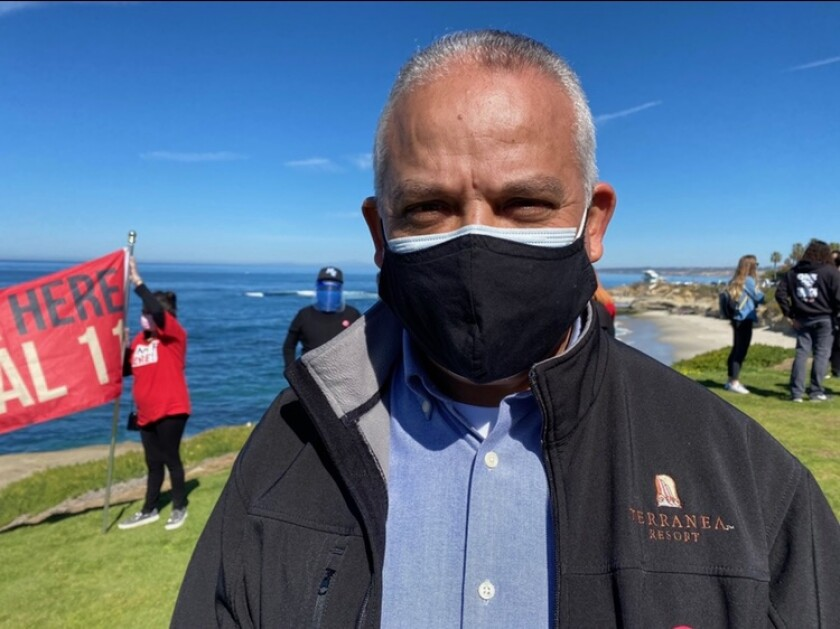 Antonio Rodriguez says he was one of the first employees of Terranea Resort. Photo courtesy of UNITE HERE Local 11.