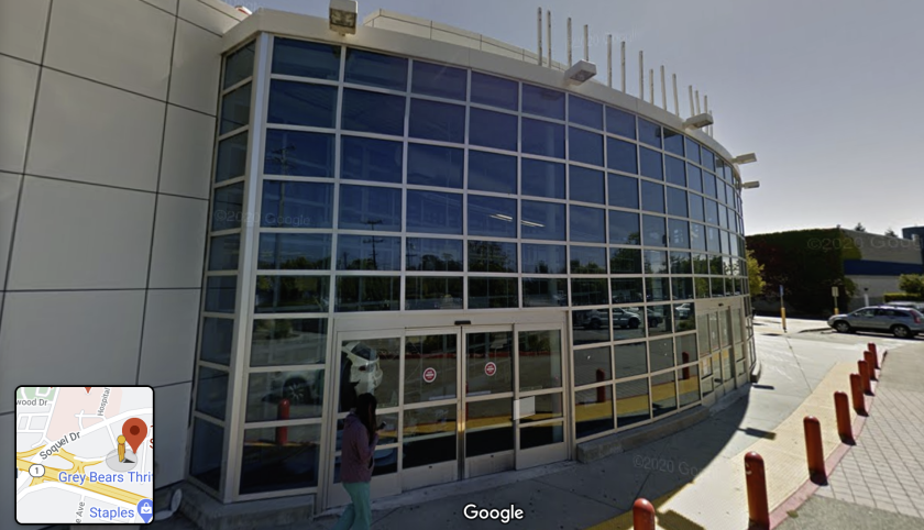 The building at 1660 Commercial Way that for many years housed Toys R Us.