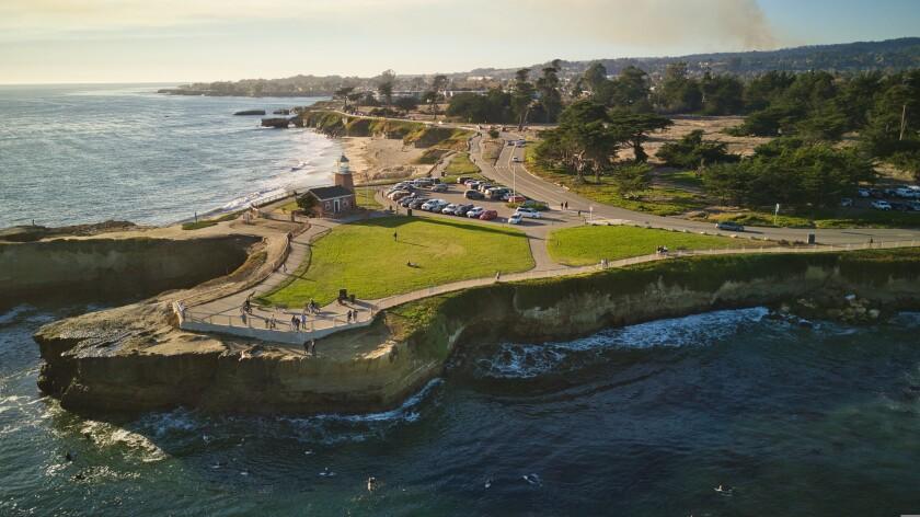 Lighthouse Point in Santa Cruz.