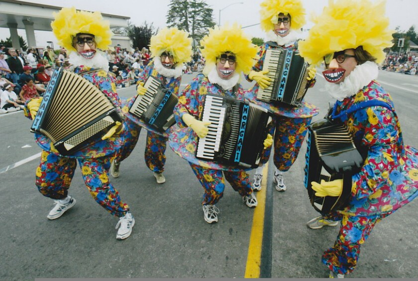 """Wallace Baine and his wife, Tina, were part of The Great Morgani's """"clone army"""" during the Aptos Parade back in 2012."""