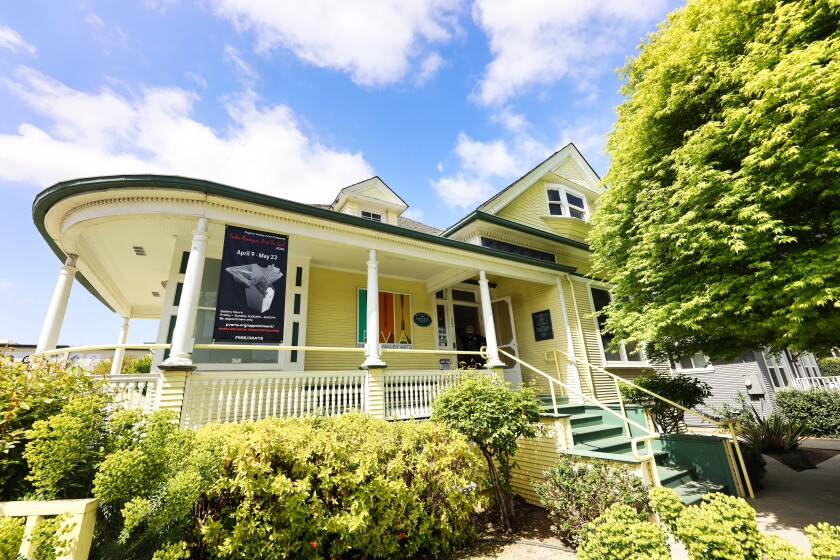 The old Victorian that houses Pajaro Valley arts in downtown Watsonville.