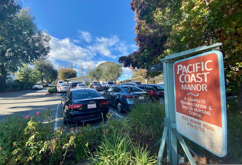 Pacific Coast Manor skilled nursing facility on Nov. 25, 2020.