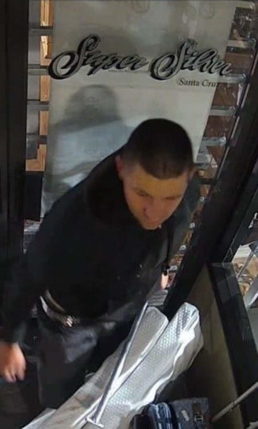 Suspect in Super Silver burglary.