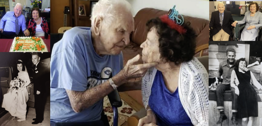 The love story of Gene and Doris Johnson dates back more than 70 years.