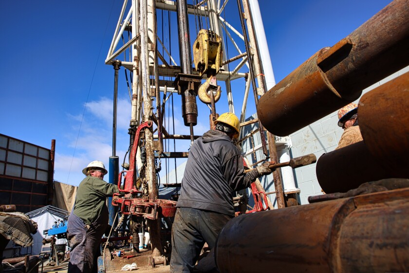 Workers drill ground water wells for the Soquel Water District