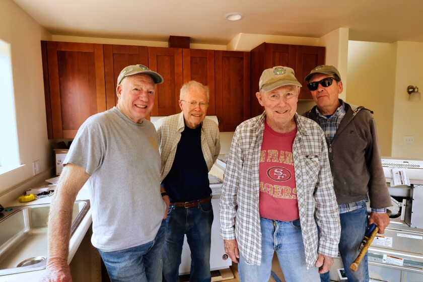 Members of the Golden Hammer crew on a build for Habitat for Humanity Monterey Bay.
