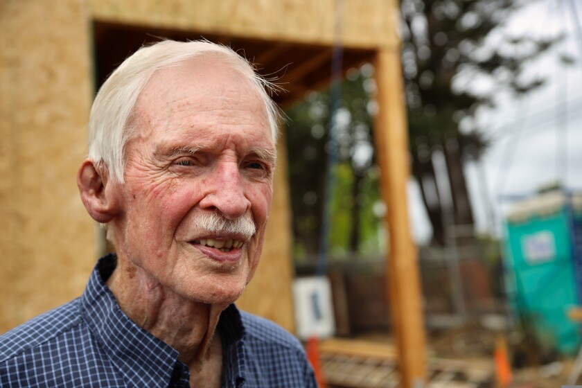At 88, Jim Chambers is the senior member of the Golden Hammer volunteer group.