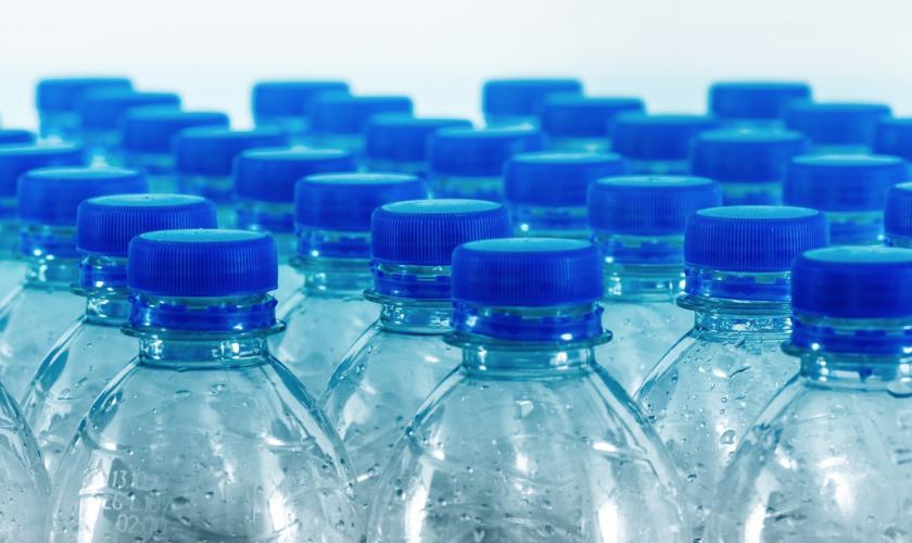 File image of plastic water bottles