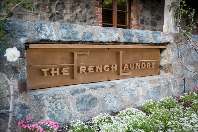 The exclusive French Laundry restaurant in the Napa Valley