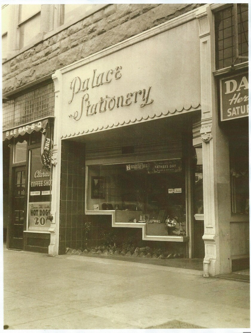 The Palace Stationery in downtown Santa Cruz in 1949.