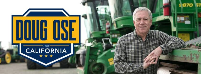 Campaign poster for former U.S. Rep. Doug Ose