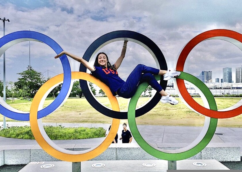 Izzy Connor enjoying every bit of her Tokyo moment,
