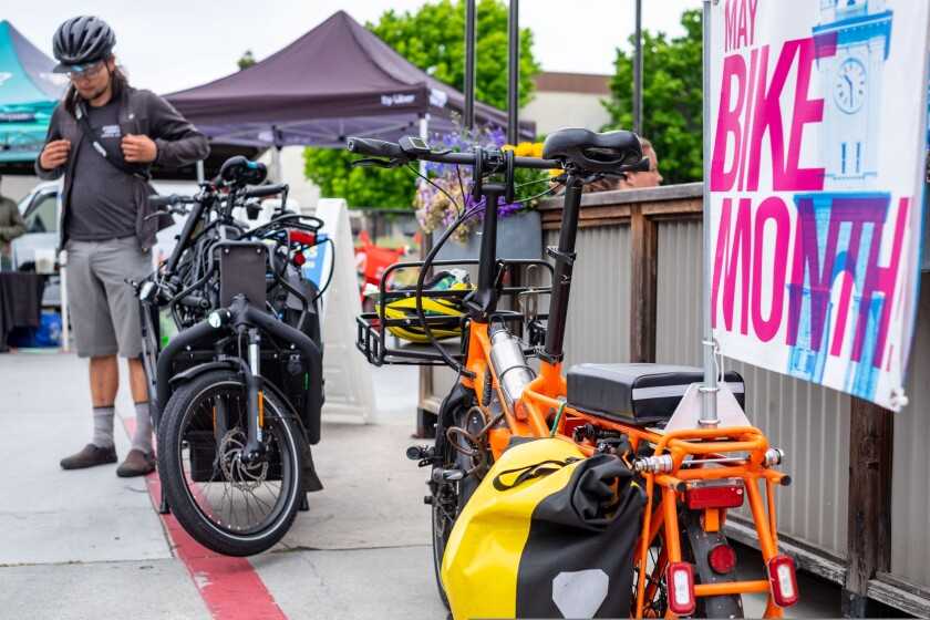This Bike Month event in 2019 drew two-wheeled contraptions of all shapes and sizes. This year's event kicks of May 1.