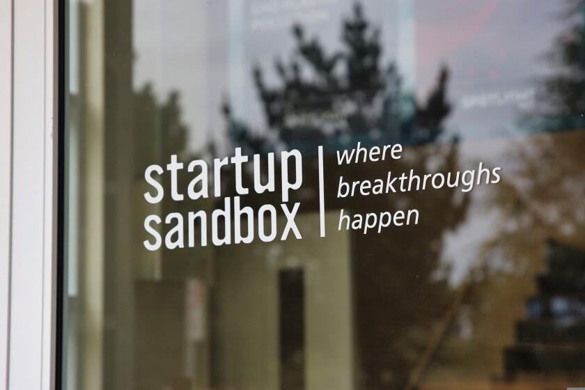Outside Startup Sandbox in Santa Cruz. The bioscience incubator is located at 250 Natural Bridges Drive.
