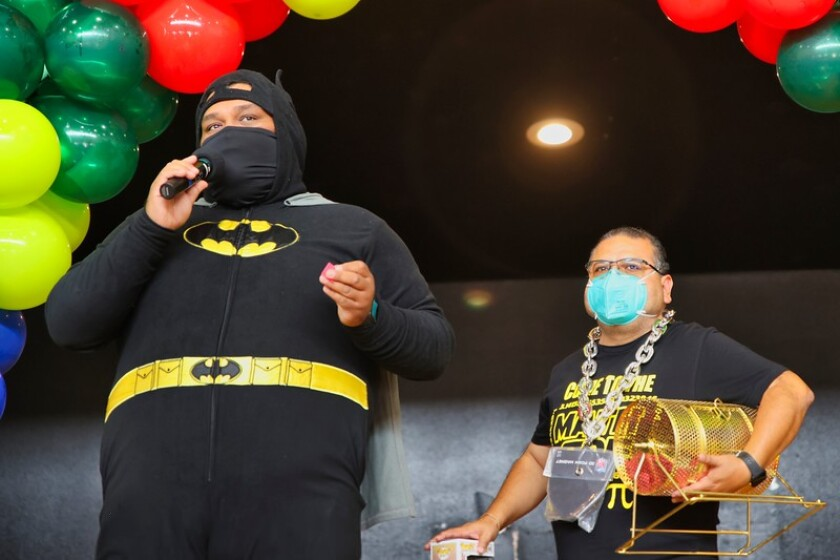 Eddie Gonzalez, aka Batman, was the emcee for Watsonville's Nerdville event.