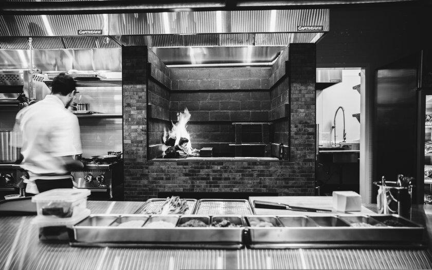The kitchen at Alderwood.