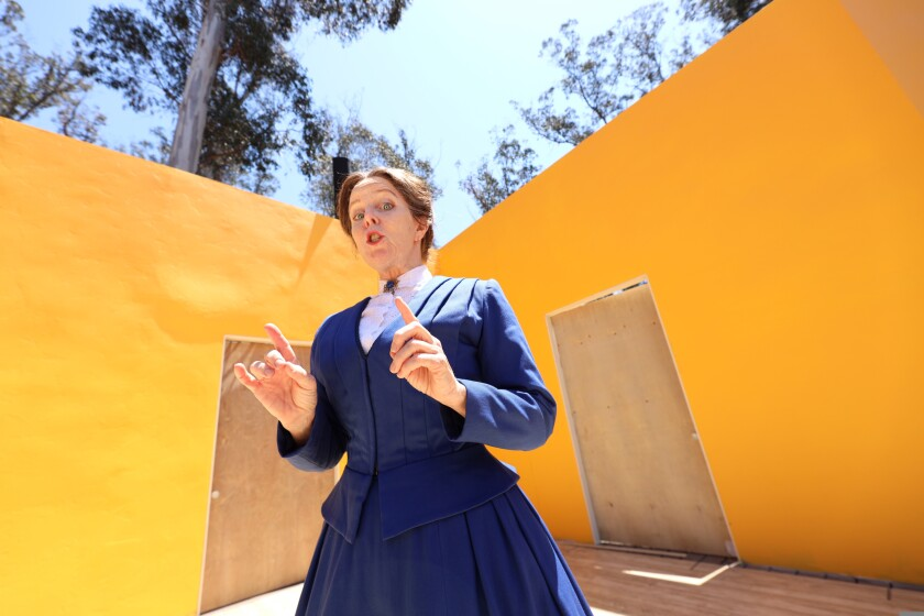 Patty Gallaher as Susan B. Anthony.
