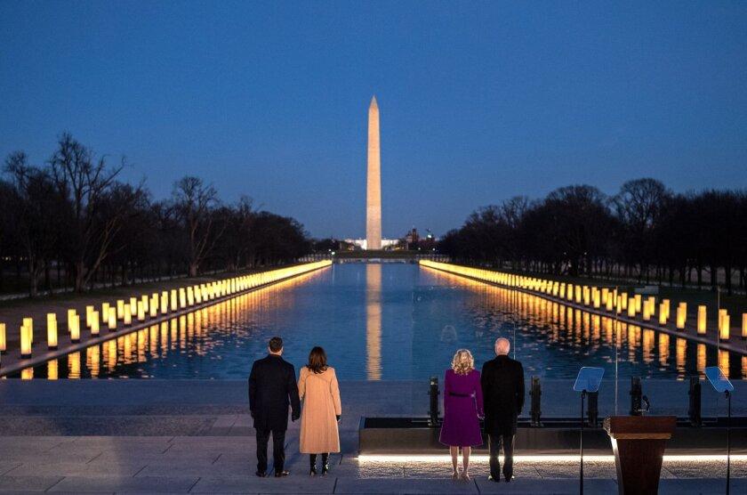 Joe and Jill Biden, Kamala Harris and Doug Emhoff
