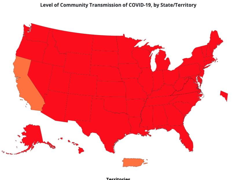 CDC community transmission of COVID-19