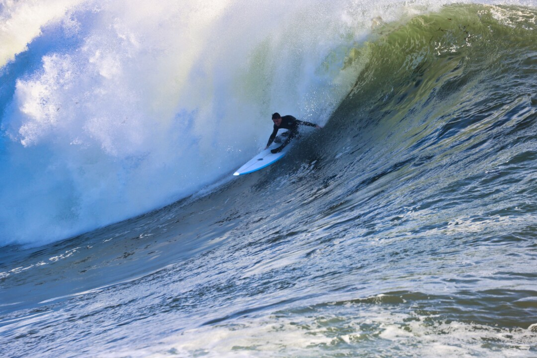 The ability to ride a wave like this expertly — especially on 'Big Tuesday' at Steamer Lane — does not come overnight.