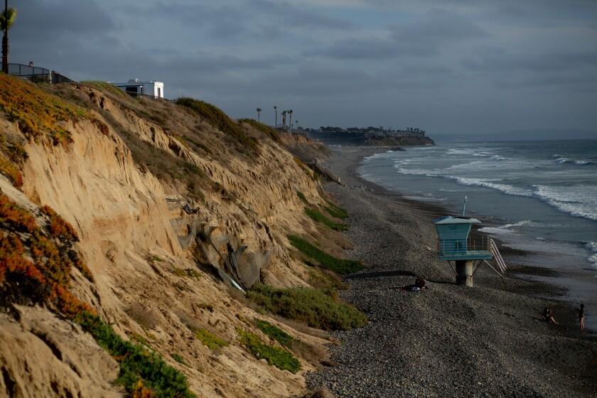 Geo textile, installed a decade ago to address erosion