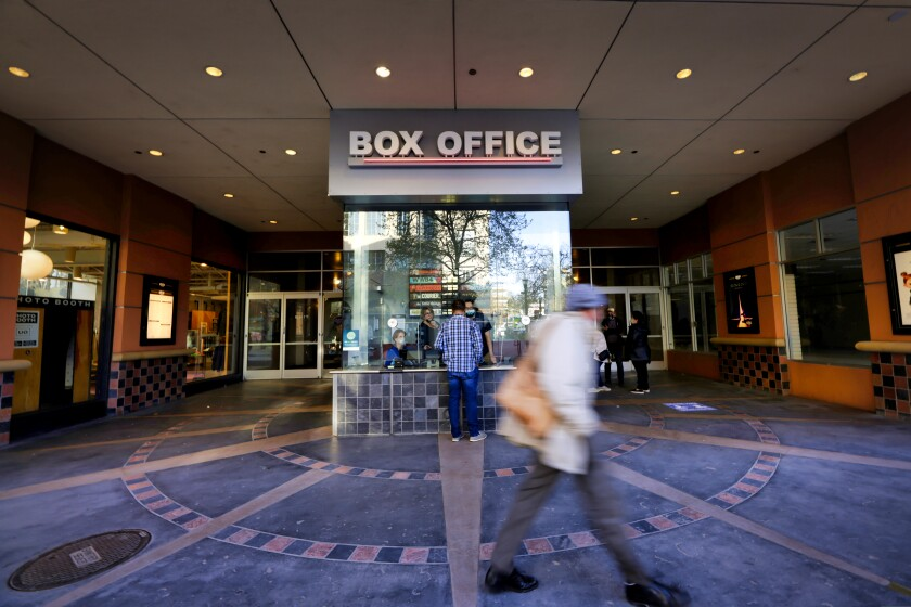 The box office at the former Cinema 9, once left for dead, opens as Santa Cruz Cinema Thursday evening.