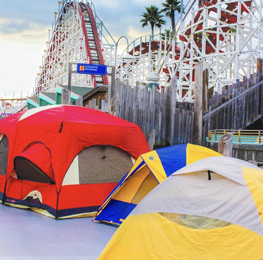 Camping at the Santa Cruz Beach Boardwalk