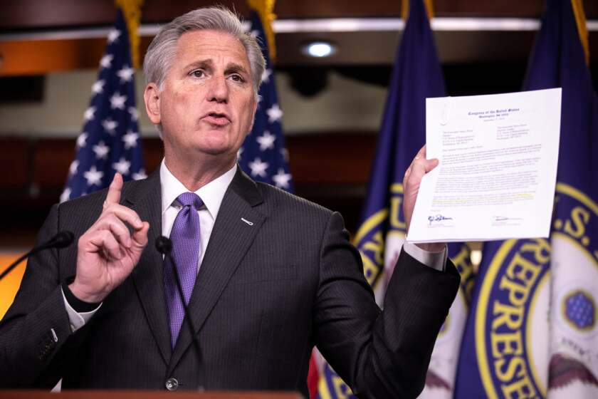 File image of Rep. Kevin McCarthy, the House Minority leader from Bakersfield.