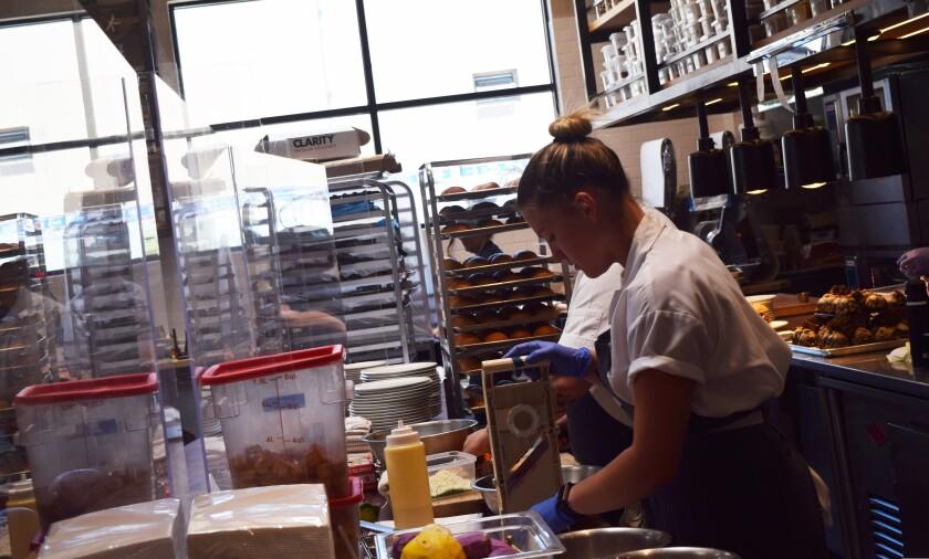 Inside the kitchen at Alderwood in Santa Cruz on Friday, June 16, 2021.