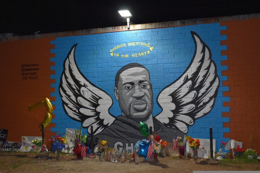 Mural of George Floyd in his hometown of Houston, Texas.