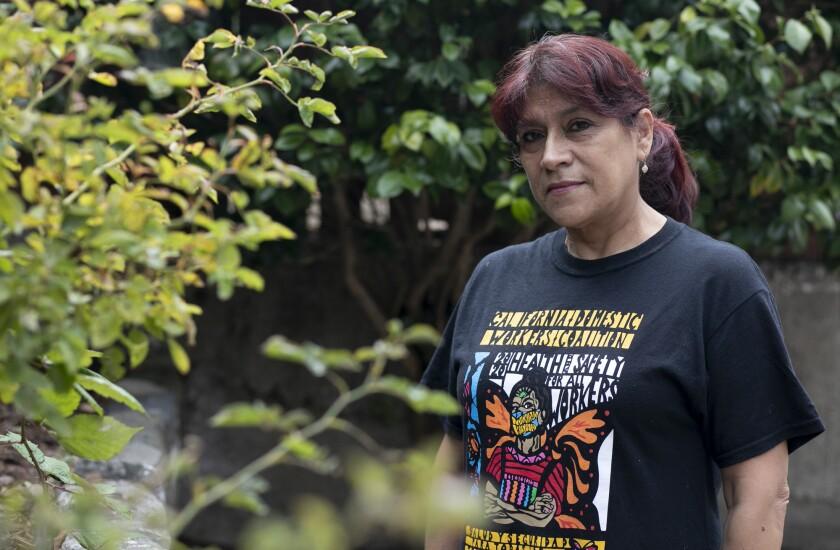 Martha Garrido, a domestic worker who lives in San Francisco