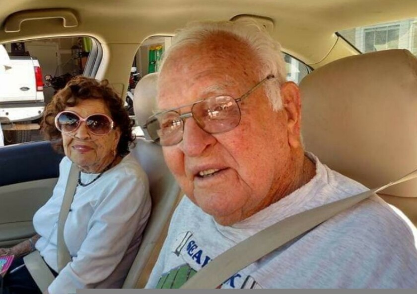 Doris and Gene, out for a drive.