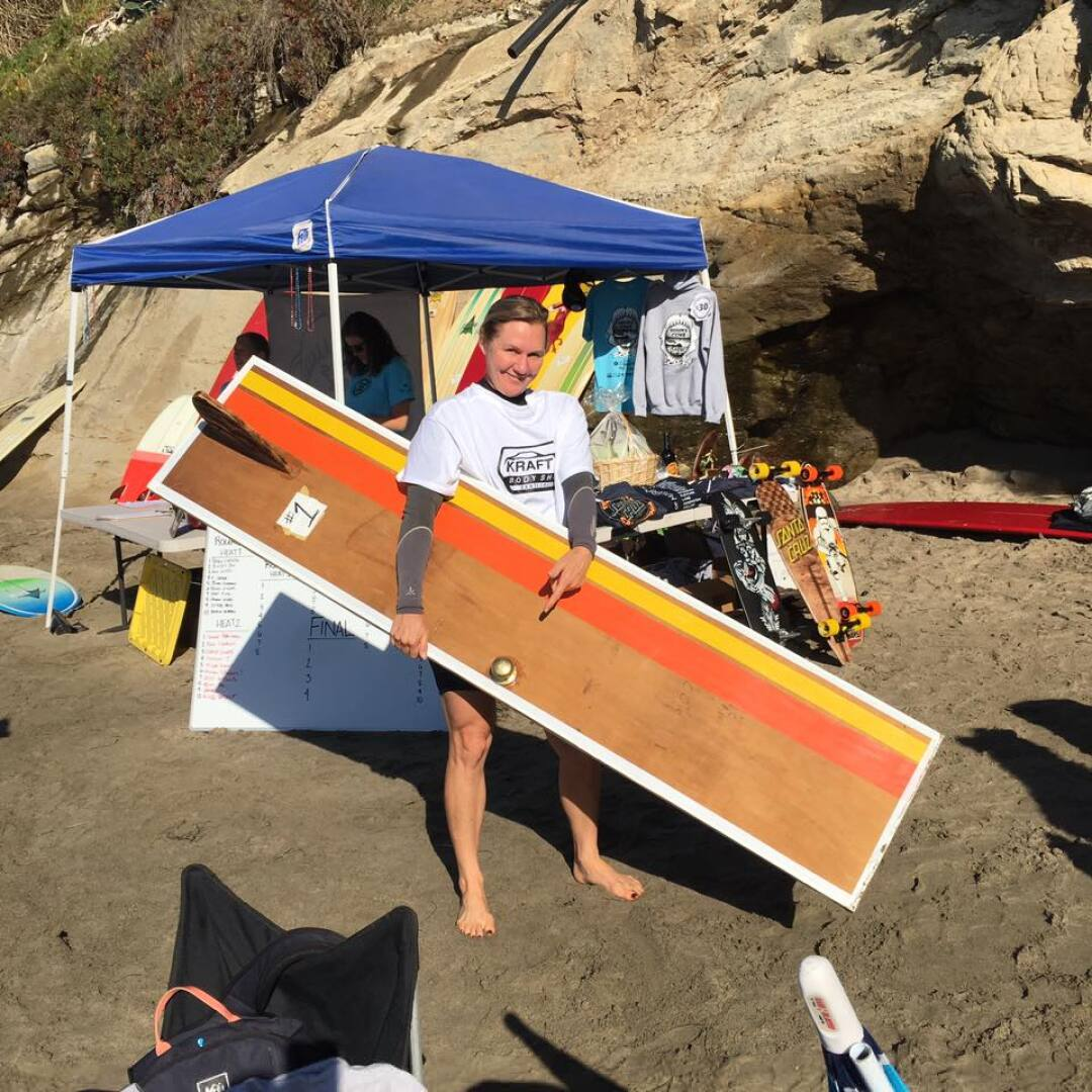 In 2016, the door was briefly surfed by Erin Alexander. Before it got water-logged and began to sink.