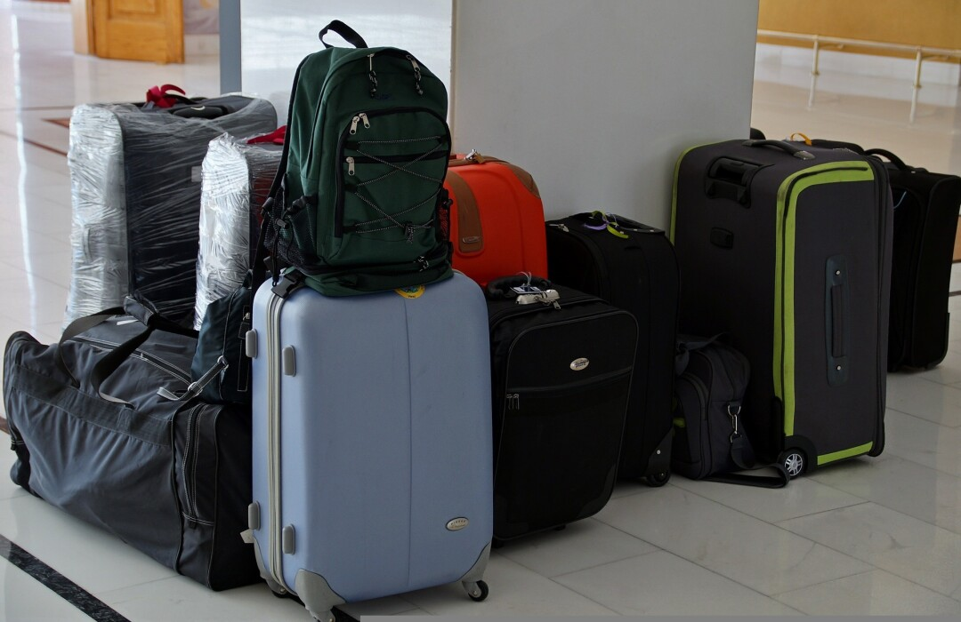 File image of luggage and backpacks